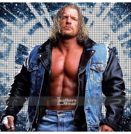 WWE Triple H Blue Denim Vest