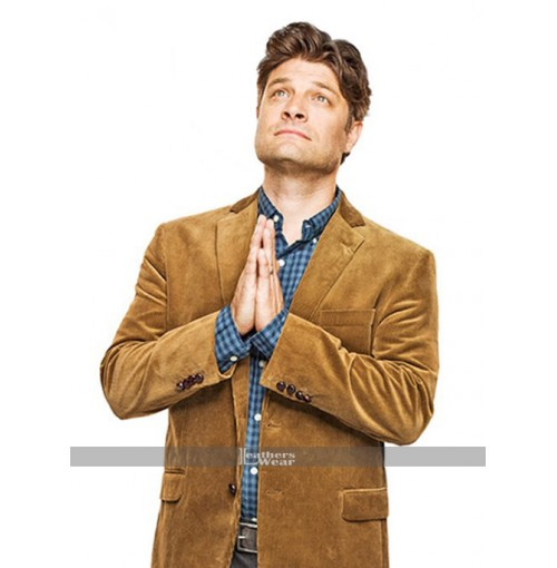 Living Biblically Jay R. Ferguson Chip Brown Jacket