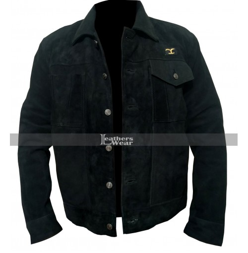Rip Wheeler Yellowstone Cole Hauser Black Jacket