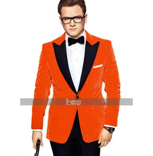 Eggsy Kingsman Golden Circle Taron Egerton Gary Unwin Tuxedo Suit