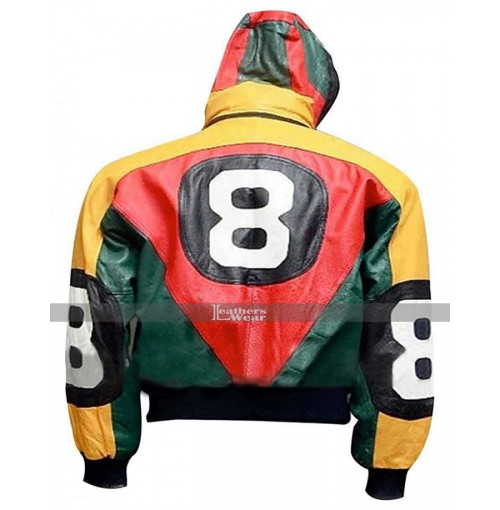 8 Ball Michael Hoban Vintage Bomber Hoodie Jacket