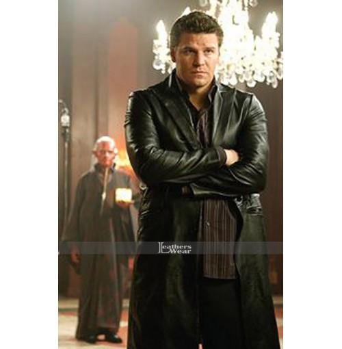 Angel David Boreanaz Long Leather Coat