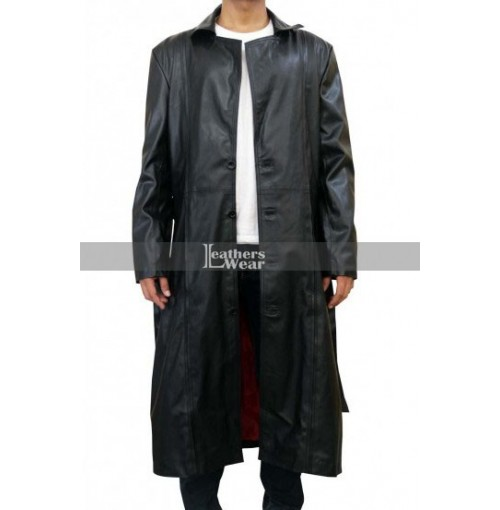 Blade Movie Wesley Snipes Black Leather Coat