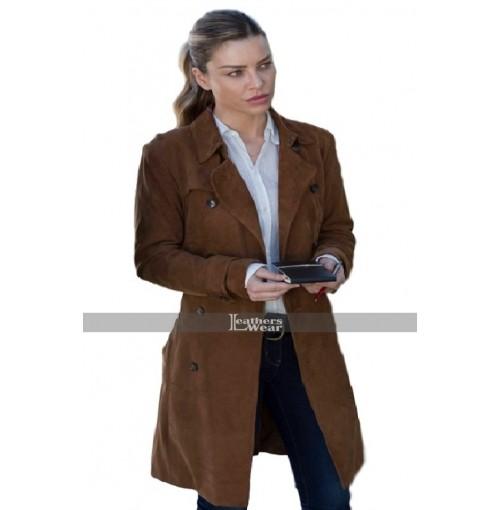 Lucifer Chloe Decker Brown Leather Coat