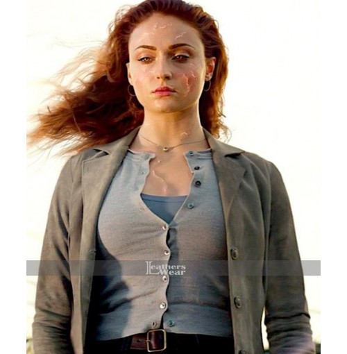 Sophie Turner X-Men Dark Phoenix Grey Coat