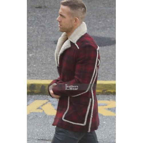 Deadpool Ryan Reynolds (Wade Wilson) Shearling Coat