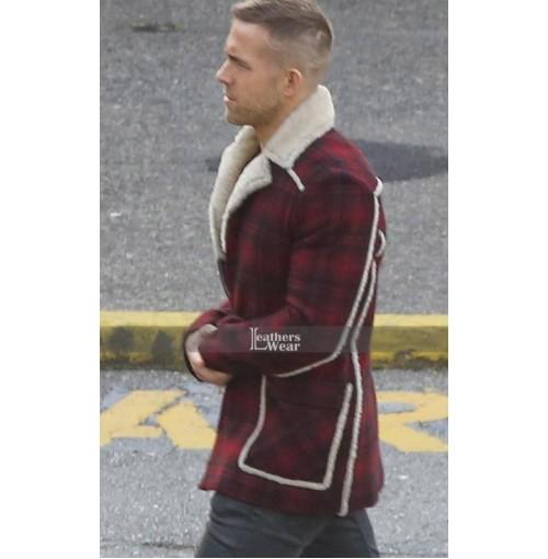 Deadpool Ryan Reynolds (Wade Wilson) Shearling Coat