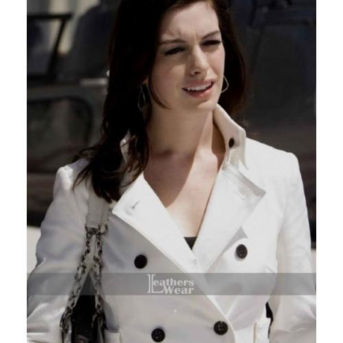 Anne Hathaway Get Smart: Get Smart Anne Hathaway (Agent 99) White Leather Coat