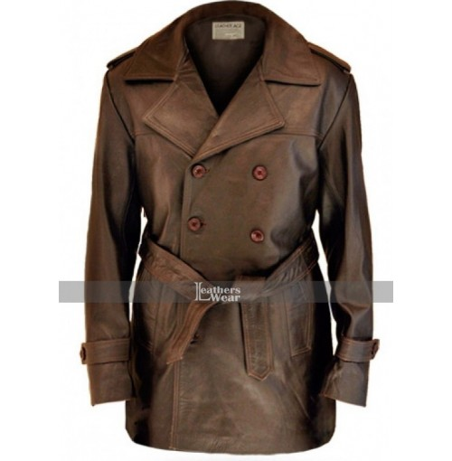 Half Life Leather Brown Coat