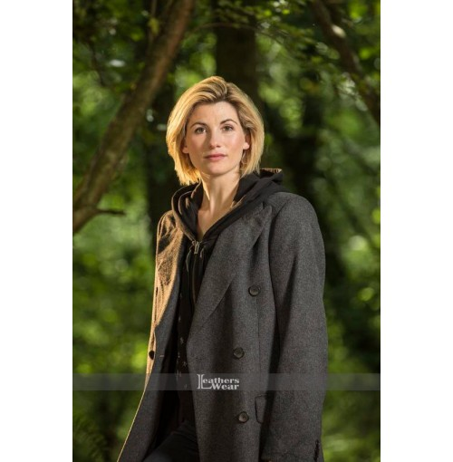 13th Doctor Jodie Whittaker Grey Trench Coat