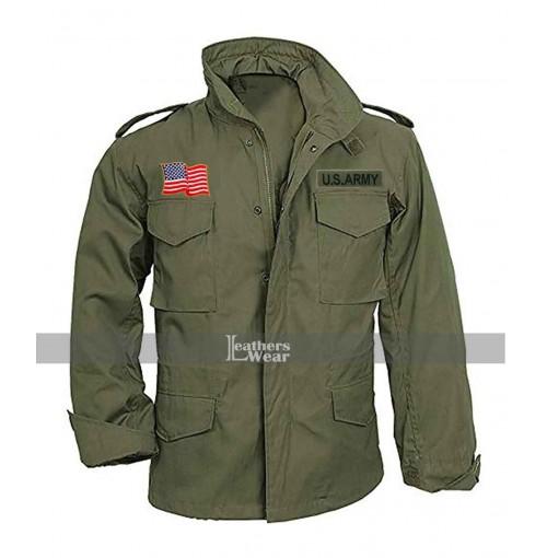 M65 JOHN RAMBO FIRST BLOOD MILITARY GREEN COAT US ARMY MEN JACKET 100/% COTTON
