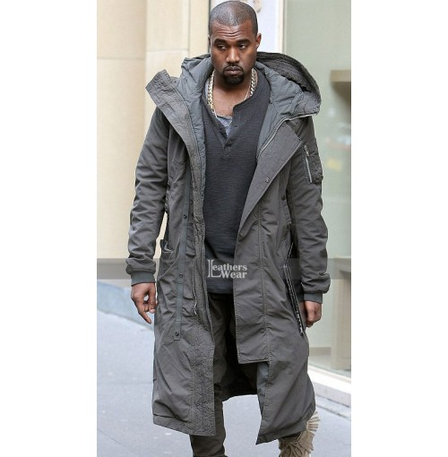 Kanye West Long Grey Coat