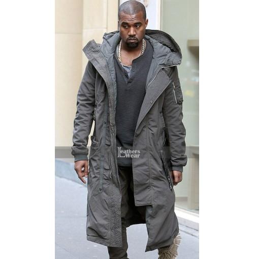 Kanye West Long Grey Coat