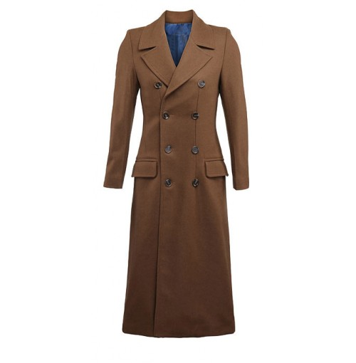 Detective Wool Pea Coat For Unisex