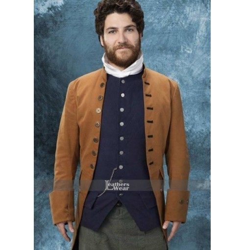 Making History Adam Pally Trench Brown Coat