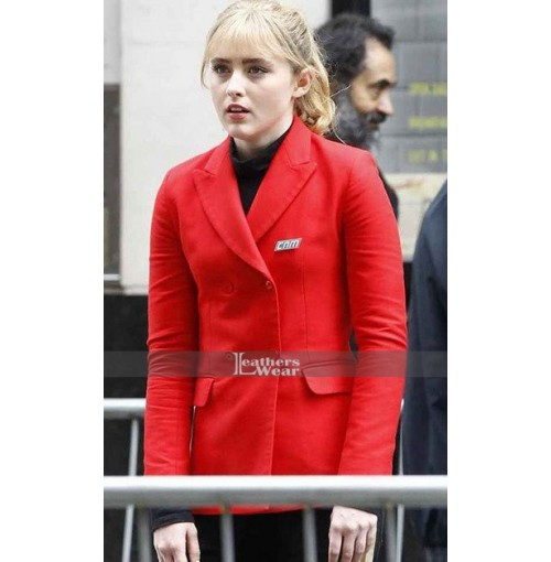 Pokémon Detective Pikachu Kathryn Newton Red Coat