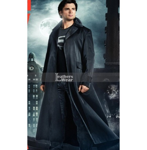 Clark Kent Smallville Tom Welling (Superman) Long Leather Coat