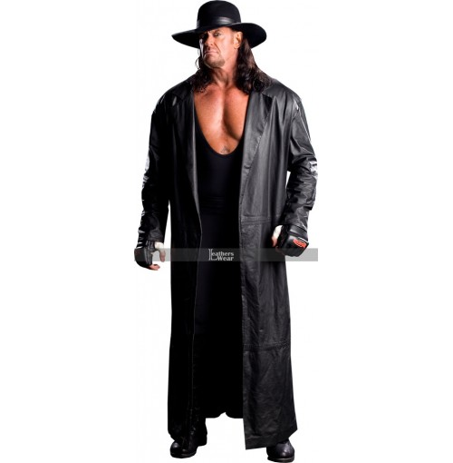 The Undertaker Trench Leather Coat Costume