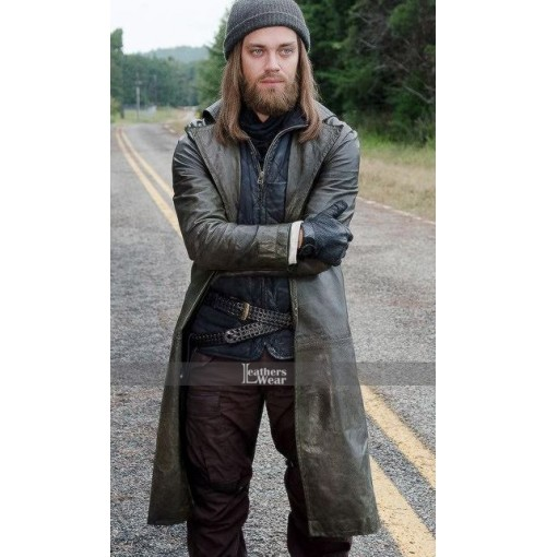 Walking Dead Paul Jesus Monroe Leather Coat