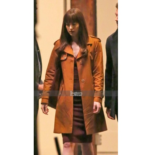 Anastasia Steele Fifty Shades Darker Dakota Johnson Coat