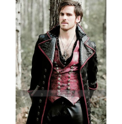 Captain Hook Once Upon Time Colin Vest Coat