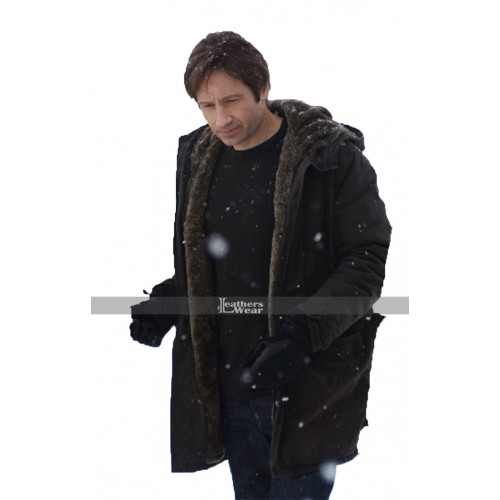 David Duchovny The X-Files Fox Mulder Fur Coat