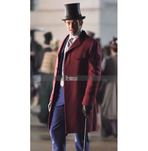 The Greatest Showman Hugh Jackman (P.T. Barnum) Trench Coat Costume