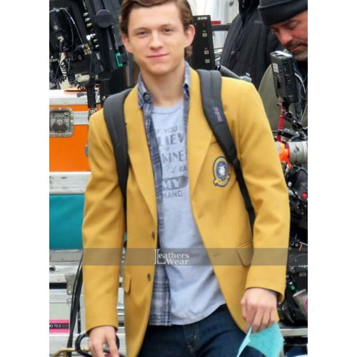 Tom Holland Spider Man Yellow Coat