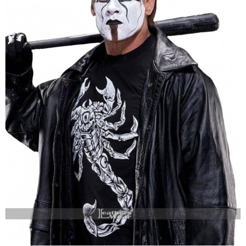 wwe sting returns 2015 black coat costume