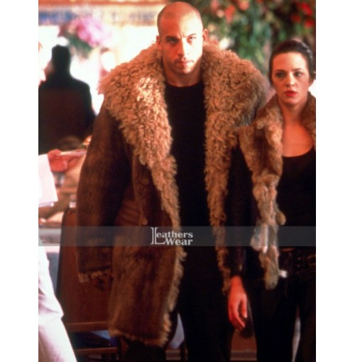 9d52597c Vin Diesel xXx 3 The Return of Xander Cage Fur Brown Coat