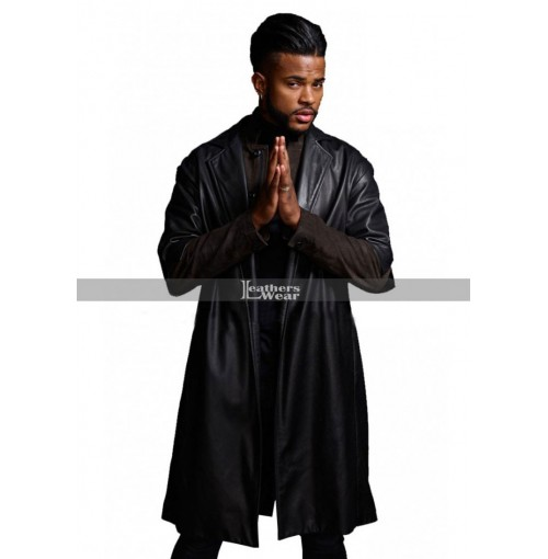 SuperFly Trevor Jackson Youngblood Priest Black Leather Coat