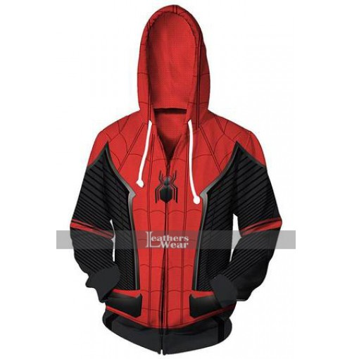 Spider Man Far from Home Peter Parker Hoodie Jacket