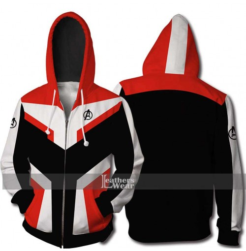 Avengers Endgame Costume Quantum Realm Advanced Tech Hoodie Jacket