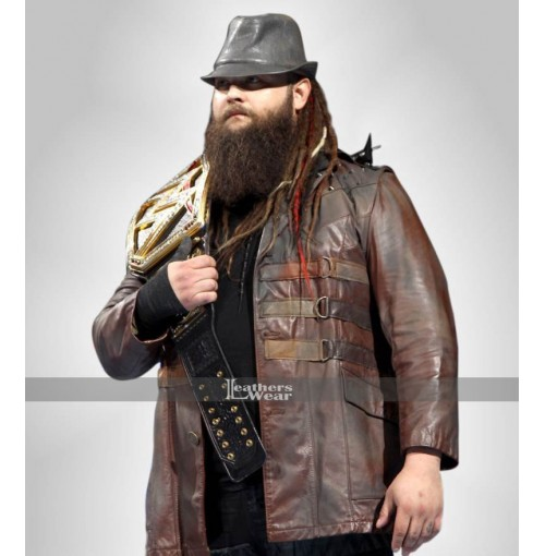 WWE Bray Wyatt Brown Leather Jacket