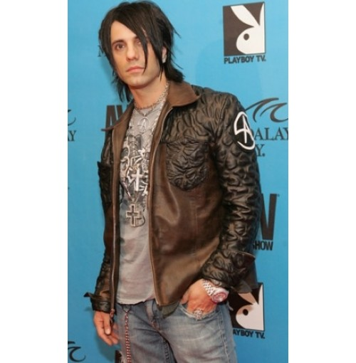 Criss Angel Quilted Biker Brown Jacket