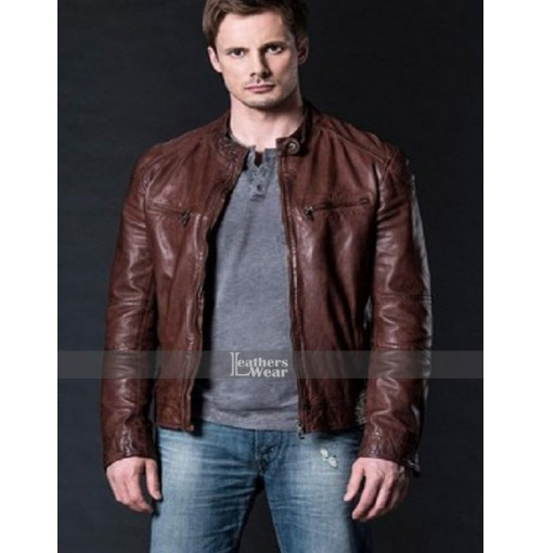 Damien Thorn Bradley James Brown Leather Jacket