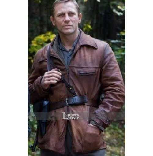 Defiance Movie Daniel Craig (Tuvia Bielski) Leather Jacket