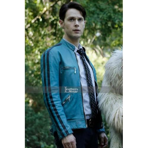 Dirk Gently's Holistic Samuel Barnett Blue Jacket