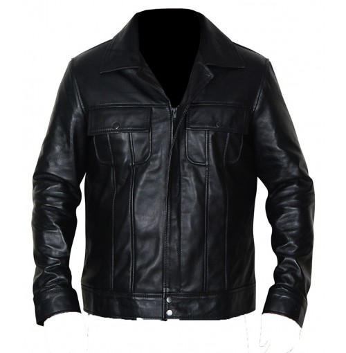 The King Of Rock Elvis Presley Biker Leather Jacket