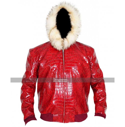 Exotic Crocodile Fur Hoodie Jacket