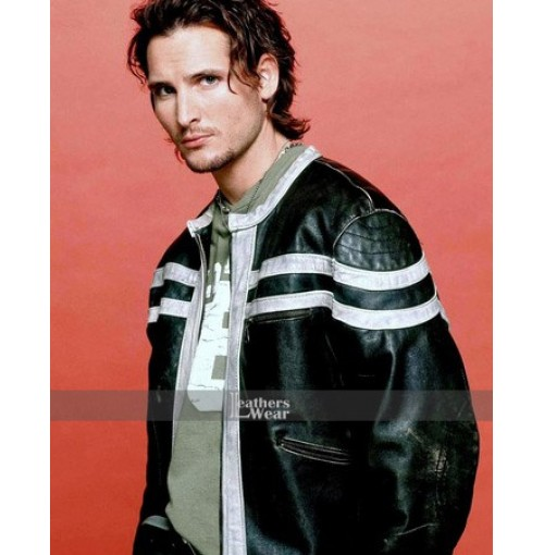 Fastlane Peter Facinelli Leather Black Jacket