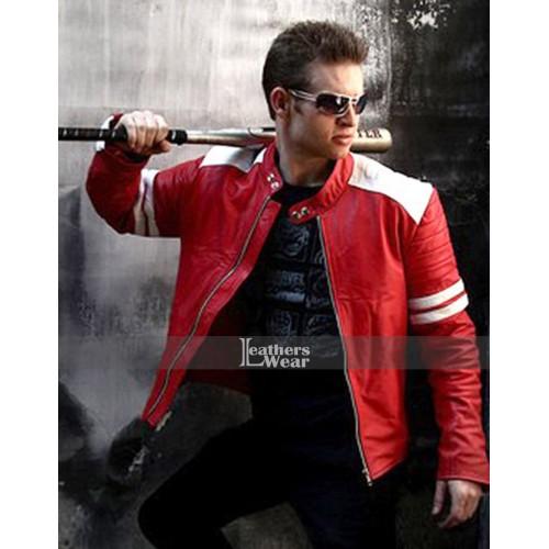Fight Club Brad Pitt (Tyler Durden) Red And White Jacket