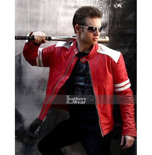 Fight Club Brad Pitt (Tyler Durden) Red And White Jacket