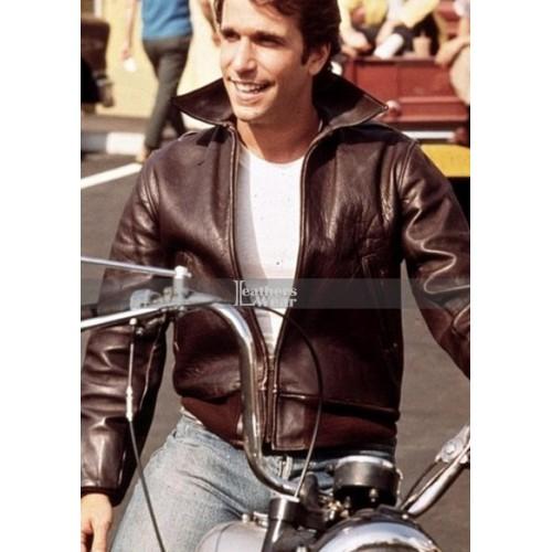 Happy Days Henry Winkler (Fonzie) Brown Bomber Jacket