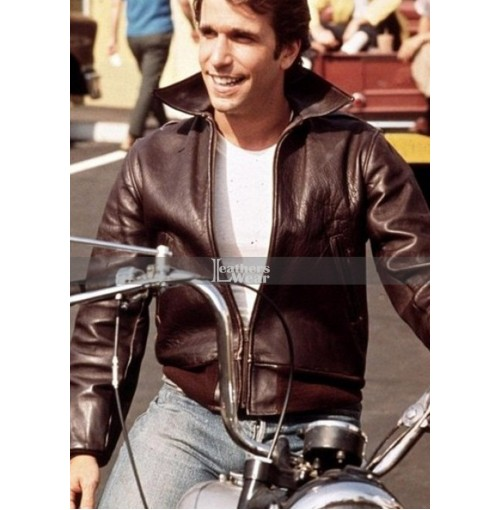 Happy Days Henry Winkler (Fonzie) Brown Bomber Jacket