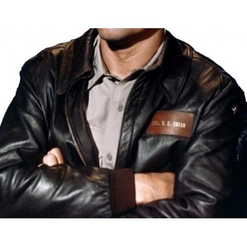 Col. Robert E Hogan's Heroes Bob Crane Bomber Leather Jacket