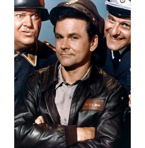 Col. Robert E Hogan's Heroes Bob Crane Bomber Leather Jacket
