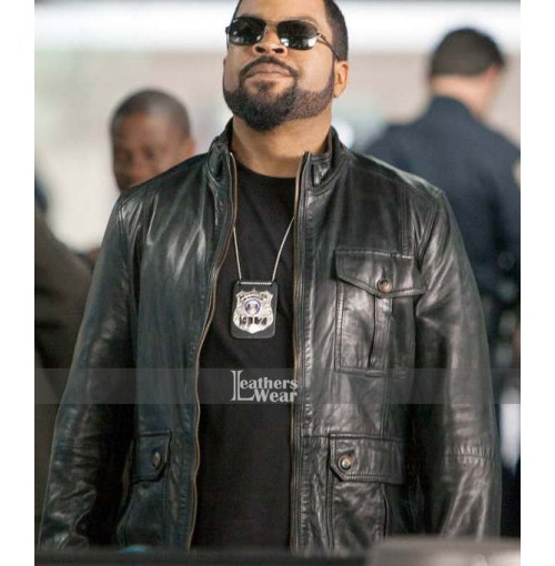 James Payton Ride Along Ice Cube Black Leather Jacket