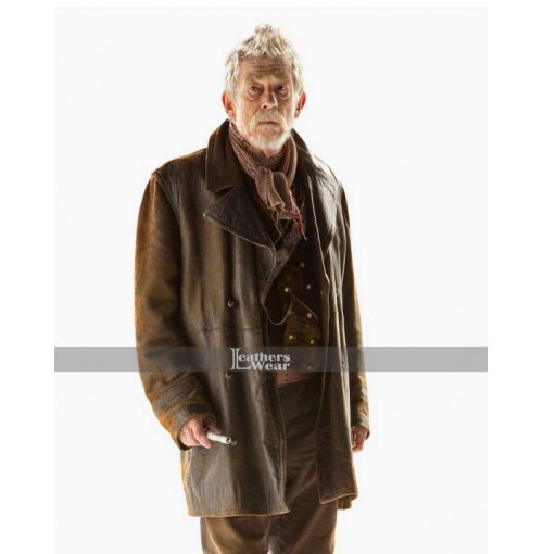 John Hurt's War Doctor- Who Costume Leather Jacket