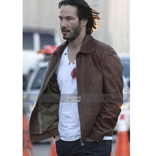 John Wick Keanu Reeves Brown Leather Jacket